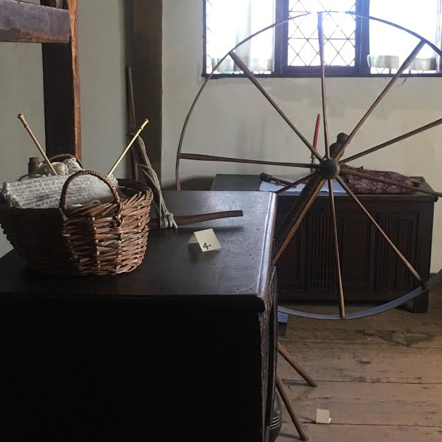 At the Salem Witch house. That is an original spinning wheel.